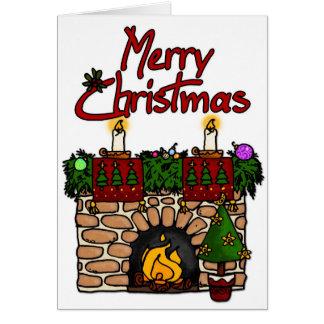 foyer de Joyeux Noël Carte De Vœux