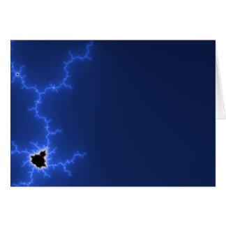 Fractale bleue de foudre cartes