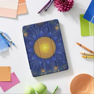 Fractale bleue et orange lumineuse Lotus de Protection iPad Air