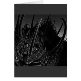 Fractale d'acier de la science fiction carte de vœux