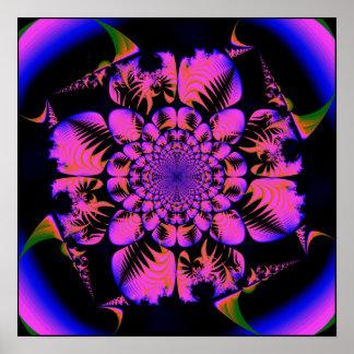 fractale dans le style de blacklight poster