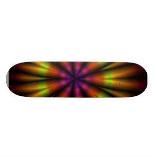 Fractale d'arc-en-ciel plateaux de skateboards customisés