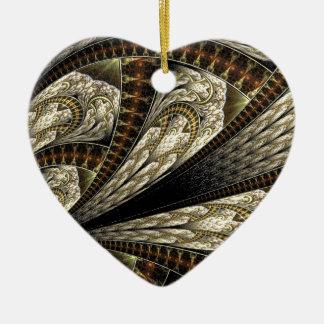 Fractale de Brown Ornement Cœur En Céramique