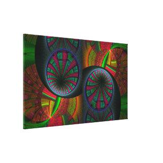 Fractale de perçage d'un tunnel psychédélique impression sur toile