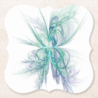 Fractale d'énergie psychique dessous-de-verre en papier