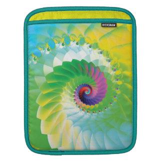 Fractale en spirale d'arc-en-ciel poches iPad