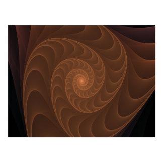 Fractale en spirale de Brown Carte Postale