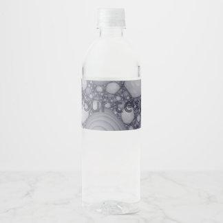 Fractale grise étiquette pour bouteilles d'eau
