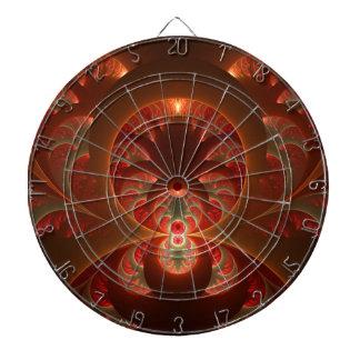Fractale moderne abstraite lumineuse de rouge jeu de fléchettes