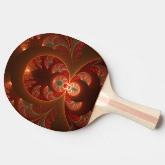 Fractale moderne abstraite lumineuse de rouge raquette tennis de table