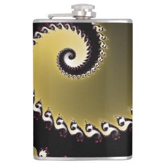 Fractale. Or, argent, noir Flasques