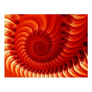 Fractale orange brûlée cartes postales