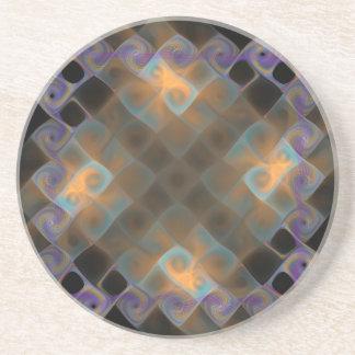 Fractale plasmatique dessous de verre en grès
