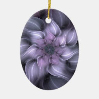 Fractale pourpre ornement ovale en céramique