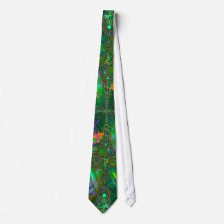 Fractale psychédélique embrouillée de destin cravate customisée