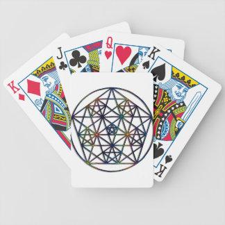 Fractale sacrée de la géométrie d'abondance de la cartes à jouer