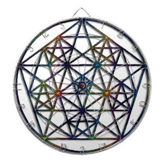 Fractale sacrée de la géométrie d'abondance de la jeu de fléchettes