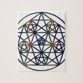 Fractale sacrée de la géométrie d'abondance de la puzzle