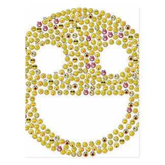 Fractale souriante de visage cartes postales