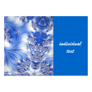 Fractale spéciale 17, bleue modèle de carte de visite