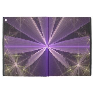 """Fractale violette d'abrégé sur fleur d'étoile iPad pro 12.9"""" case"""