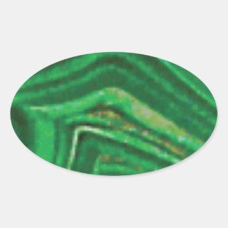 fractures et lignes de roche sticker ovale