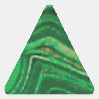fractures et lignes de roche sticker triangulaire