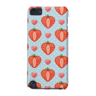 Fraises de coeur avec le pois et les coeurs coque iPod touch 5G