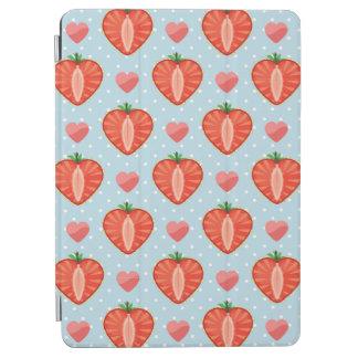 Fraises de coeur avec le pois et les coeurs protection iPad air