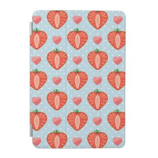 Fraises de coeur avec le pois et les coeurs protection iPad mini