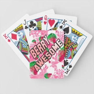 Fraises fruitées impressionnantes de baie jeu de poker