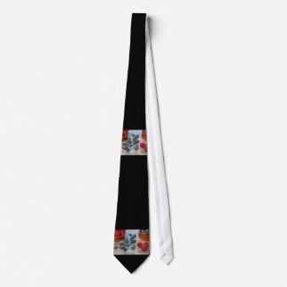 Framboises et myrtilles cravate