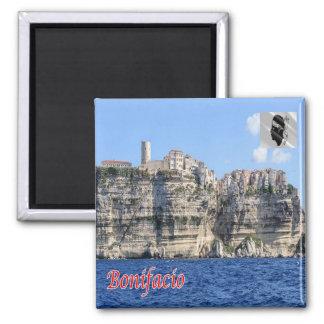 Franc - La Corse - le Bonifacio - panorama Magnet Carré