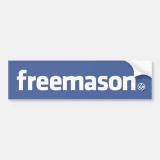 Franc-maçon, logo de style de Facebook avec petit  Autocollant Pour Voiture