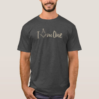 """Franc-maçonnerie """"je suis une"""" boussole carrée t-shirt"""