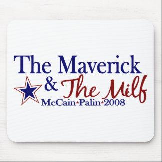 Franc-tireur et Milf (McCain Palin 2008) Tapis De Souris