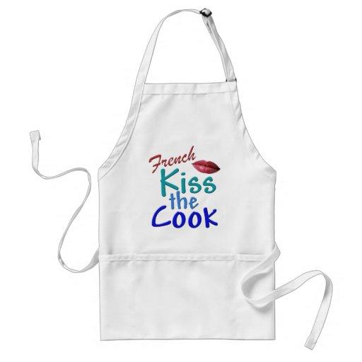 Fran ais baiser le cuisinier tablier zazzle for Cuisinier francais 6 lettres