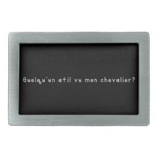 Français-Chevalier Boucles De Ceinture Rectangulaires