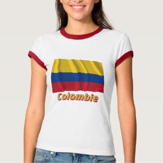 Français de Drapeau Colombie avec le nom en T-shirt