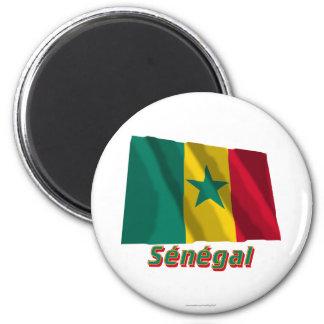 Français de Drapeau Sénégal avec le nom en Aimant Pour Réfrigérateur