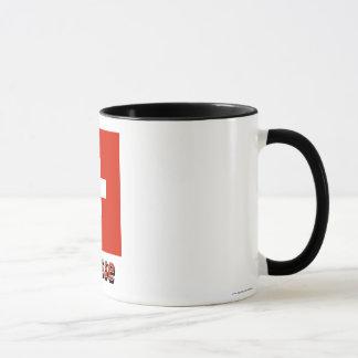 Français de Drapeau Suisse avec le nom en Mug