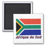 Français de le nom en d'avec de Drapeau Afrique du Magnet Carré