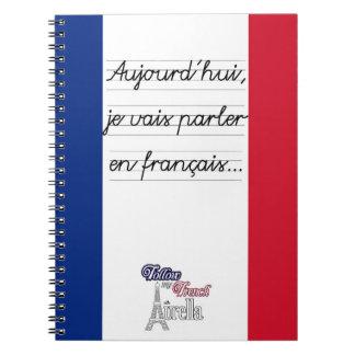 Français- d'en de parler de vais de je carnet