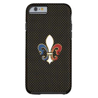 Français Flag Fleur de Lis avec de l'or Coque iPhone 6 Tough