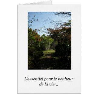 Français-L'essentiel versez le bonheur de l… Carte De Vœux