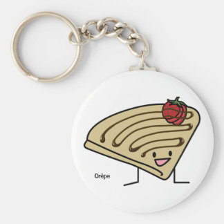 Français pâteux de chocolat de dessert de fraise porte-clé rond