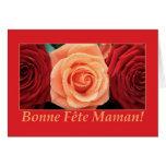 Français rose de bouquet mélangé par carte du jour