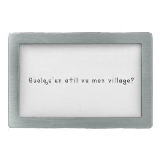 Français-Village Boucle De Ceinture Rectangulaire