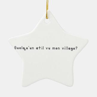 Français-Village Ornement Étoile En Céramique