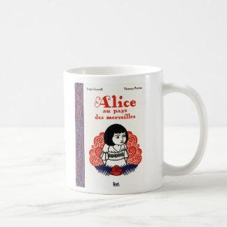Français vintage Alice au pays des merveilles Mug À Café